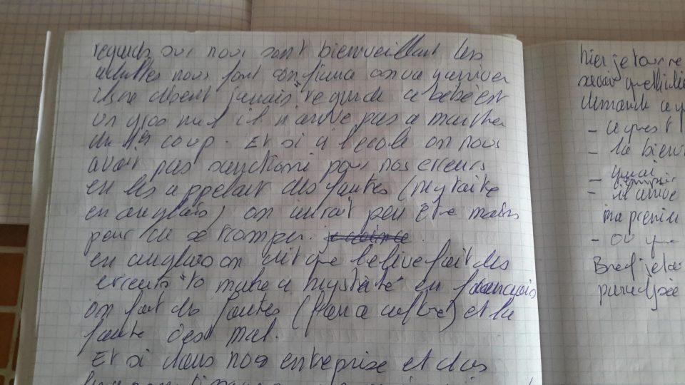 cahier écriture automatique